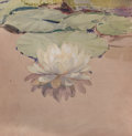 Fine Art - Painting, American:Modern  (1900 1949)  , GEORGE WALTER DAWSON (American, 1870-1938). White WaterLily, 1912. Watercolor on paper. 10 x 10 inches (25.4 x 25.4cm)...