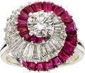 Estate Jewelry:Rings, Diamond, Ruby, Platinum Ring, Oscar Heyman Bros., circa 1970. ...