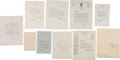 Autographs:Celebrities, Mid-Twentieth Century Notables Letter Group including:...