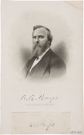 Autographs:U.S. Presidents, Rutherford B. Hayes Signature....
