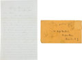 Miscellaneous:Ephemera, [Civil War]. Soldier's Letter Regarding Lee's Surrender and theDeath of Lincoln....