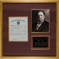 Autographs:U.S. Presidents, William Howard Taft Signed West Point Appointment. ...