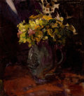 Fine Art - Painting, American:Modern  (1900 1949)  , AMERICAN SCHOOL (20th Century). Floral Bouquet, 1913. Oil oncanvas. 16-1/4 x 14-1/2 inches (41.3 x 36.8 cm). Signed ind...
