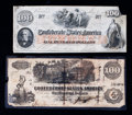 Confederate Notes:1862 Issues, $100 1862 Confederate Pair.. ... (Total: 2 notes)