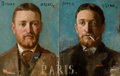 Fine Art - Painting, American:Antique  (Pre 1900), FRANK WESTON BENSON (American, 1862-1951) and JOSEPH LINDON SMITH(American, 1863-1950). Before/After Portraits of L. ...