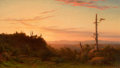 Paintings, WILLIAM FREDERICK DE HAAS (American, 1830-1880). Sunset, circa 1860s. Oil on canvas. 8-1/2 x 13-3/4 inches (21.6 x 34.9 ...