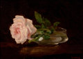 Paintings, WILDER M. DARLING (American, 1856-1933). Still Life with Roses. Oil on canvas laid on panel. 9 x 11 inches (22.9 x 27.9 ...