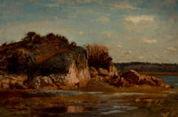 WINCKWORTH ALLAN GAY (American, 1821-1910) South Shore (White Head, Cohasset), 1876 oil on board