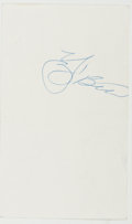 "Books:Americana & American History, Lawrence Peter ""Yogi"" Berra (American Baseball Player and Manager,1925-). Clipped Signature. [N.p., n.d.]. Signed in blue b..."