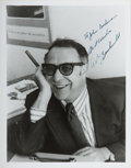 Books:Americana & American History, Art Buchwald (American Journalist and Humorist, 1925-2007).Inscribed Photograph. [N.p., n.d., ca. 1970]. Black and white ph...