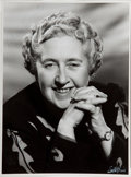Books:Mystery & Detective Fiction, Agatha Christie (English Novelist, 1890-1976). Signed Photograph.[London, n.d., ca. 1940]. Signed by Dame Agatha in upper l...