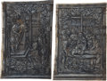 Books:Illuminated Manuscripts, [Illuminated Manuscript]. Two Full-Page Miniatures in Grisaille, attributed to The Master of Girarde Acarie, cut from Po... (Total: 2 Items)