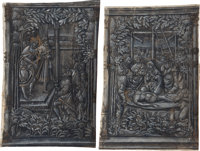 [Illuminated manuscript]. Two Full-Page Miniatures in Grisaille, attributed to The Master of Girarde Acarie, cut from