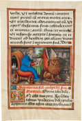Books:Illuminated Manuscripts, [Illuminated Manuscript]. Illuminated Miniature of St. Mark. [Central or Northern France, probably Bourges, early sixteenth ...
