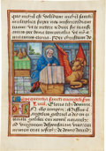 Books:Illuminated Manuscripts, [Illuminated Manuscript]. Illuminated Miniature of St. Luke. [Central or Northern France, probably Bourges, ca. early sixtee...