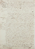 Autographs:Non-American, [Manuscript Contract]. Early 19th Century Manuscript Contract forEmployment, in French. [Paris: du 2 mai 1833]. One page do...