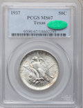 Commemorative Silver: , 1937 50C Texas MS67 PCGS. CAC. PCGS Population (83/2). NGC Census:(65/7). Mintage: 6,571. Numismedia Wsl. Price for proble...