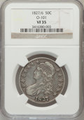 Bust Half Dollars, 1827/6 50C VF35 NGC. O-101. NGC Census: (1/70). PCGS Population(6/149). Numismedia Wsl. Price for problem free NGC/PCGS c...
