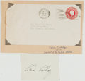 Books:Americana & American History, Calvin Coolidge (American Politician, 1872-1933, President of theUnited States, 1923-1929). Clipped Signature. [Northampton...