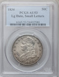 Bust Half Dollars: , 1834 50C Large Date, Small Letters AU53 PCGS. PCGS Population(33/224). NGC Census: (0/0). (#6165)...