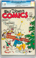 Golden Age (1938-1955):Cartoon Character, Walt Disney's Comics and Stories #4 (Dell, 1941) CGC GD- 1.8 Creamto off-white pages....
