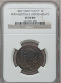 1783 1C Washington Unity States Cent VF30 NGC. NGC Census: (13/108). PCGS Population (20/241). (#689) From The Estate...