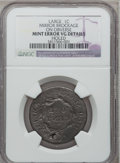Errors, No Date 1C Large Cent -- Mirror Brockage on Obverse, Holed -- NGC Details. VG.. From The Estate of John C. Hugon....