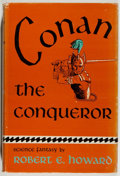 Books:Science Fiction & Fantasy, Robert E. Howard. Conan the Conqueror. New York: Gnome, [1950]. First edition, first printing. Octavo. 255 pages...