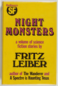 Books:Science Fiction & Fantasy, [Jerry Weist]. Fritz Lieber. Night Monsters. London: Victor Gollancz Ltd., 1974. First English edition. Octavo. ...