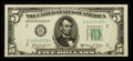 Small Size:Federal Reserve Notes, Fr. 1966-B* $5 1950E Federal Reserve Star Note. Very Choice Crisp Uncirculated.. ...