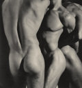 Photographs:20th Century, HERB RITTS (American, 1952-2002). Three Male Torsos, 1986.Platinum, printed later. 10-1/2 x 9-3/4 inches (26.7 x 24.8 c...