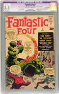 Silver Age (1956-1969):Superhero, Fantastic Four #1 (Marvel, 1961) CGC Apparent VG- 3.5 Slight (A) Off-white to white pages....