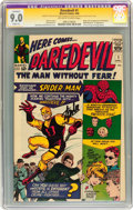Silver Age (1956-1969):Superhero, Daredevil #1 Signed by Stan Lee (Marvel, 1964) CGC Signature SeriesApparent VF/NM 9.0 Slight (A) Off-white to white pages....