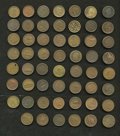 Civil War Patriotics, Civil War Patriotic Tokens, 55-Piece Group.... (Total: 55 tokens)