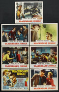 "Movie Posters:Drama, Blackboard Jungle (MGM, 1955). Title Lobby Card and Lobby Cards (6)(11"" X 14""). Drama. ... (Total: 7 Items)"