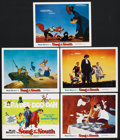 "Movie Posters:Animated, Song of the South (Buena Vista, R-1972). Title Lobby Card and LobbyCards (4) (11"" X 14""). Animated. ... (Total: 5 Items)"