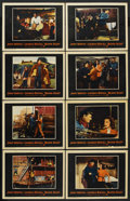 "Movie Posters:Action, Blood Alley (Warner Brothers, 1955). Lobby Card Set of 8 (11"" X14""). Action.... (Total: 8 Items)"