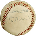 Autographs:Baseballs, 1957 St. Louis Cardinals Team Signed Baseball. Eighteen from the'57 Redbirds have made their way to this ONL (Giles) baseb...