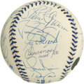 Autographs:Baseballs, 1999 New York Yankees Team Signed Baseball. The World ChampionshipYankees turn out in force (twenty-two autographs in all) ...