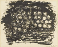 MARSDEN HARTLEY (American, 1878-1943) Grapes, 1923 Lithograph 10in. x 12-1/4in. Signed in pencil at lower right Ma