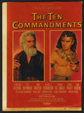 "Movie Posters:Drama, The Ten Commandments (Paramount, 1956). Window Card (14"" X 22""). Drama. ..."
