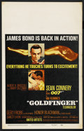 "Movie Posters:James Bond, Goldfinger (United Artists, 1964). Window Card (14"" X 22""). James Bond. ..."