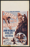 "Movie Posters:Adventure, Tarzan and the Mermaids (RKO, 1948). Window Card (14"" X 22"").Adventure. ..."