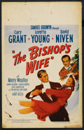 """Movie Posters:Comedy, The Bishop's Wife (RKO, 1948). Window Card (14"""" X 22""""). Comedy. ..."""