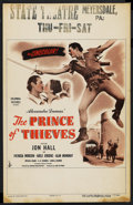 "Movie Posters:Adventure, The Prince of Thieves (Columbia, 1948). Window Card (14"" X 22"").Adventure. ..."