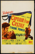 "Movie Posters:Adventure, Captain from Castile (20th Century Fox, 1947). Window Card (14"" X22""). Adventure...."