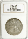 Seated Dollars: , 1840 $1 XF45 NGC. NGC Census: (21/122). PCGS Population (34/117).Mintage: 61,005. Numismedia Wsl. Price for NGC/PCGS coin ...