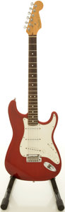 Musical Instruments:Electric Guitars, 1995 Fender USA Stratocaster Trans Red Solid Body Electric Guitar, #N513495....