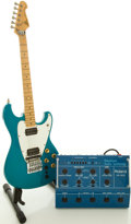 Musical Instruments:Electric Guitars, 1980's Roland GR-300 Synth Guitar Package Blue Solid Body ElectricGuitar, #E811304....