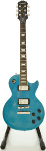 Musical Instruments:Electric Guitars, Recent Epiphone Les Paul Standard Blue Sparkle Solid Body ElectricGuitar, #09041500000....